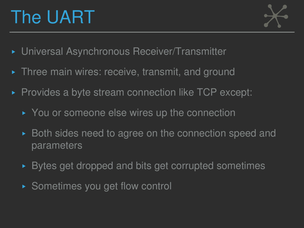 The UART ▸ Universal Asynchronous Receiver/Tran...