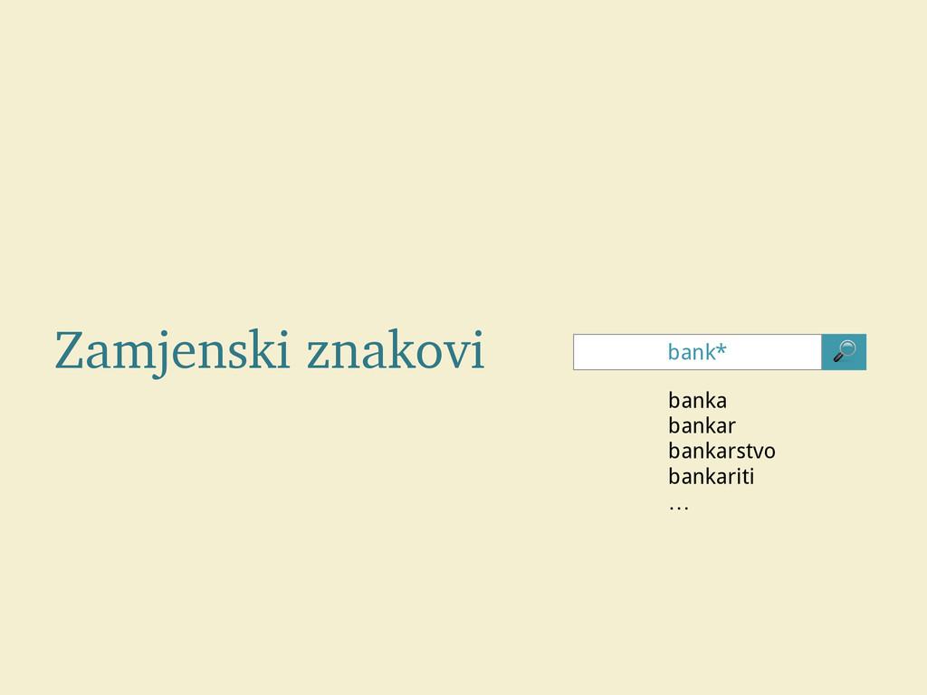 Zamjenski znakovi bank*  banka bankar bankarstv...