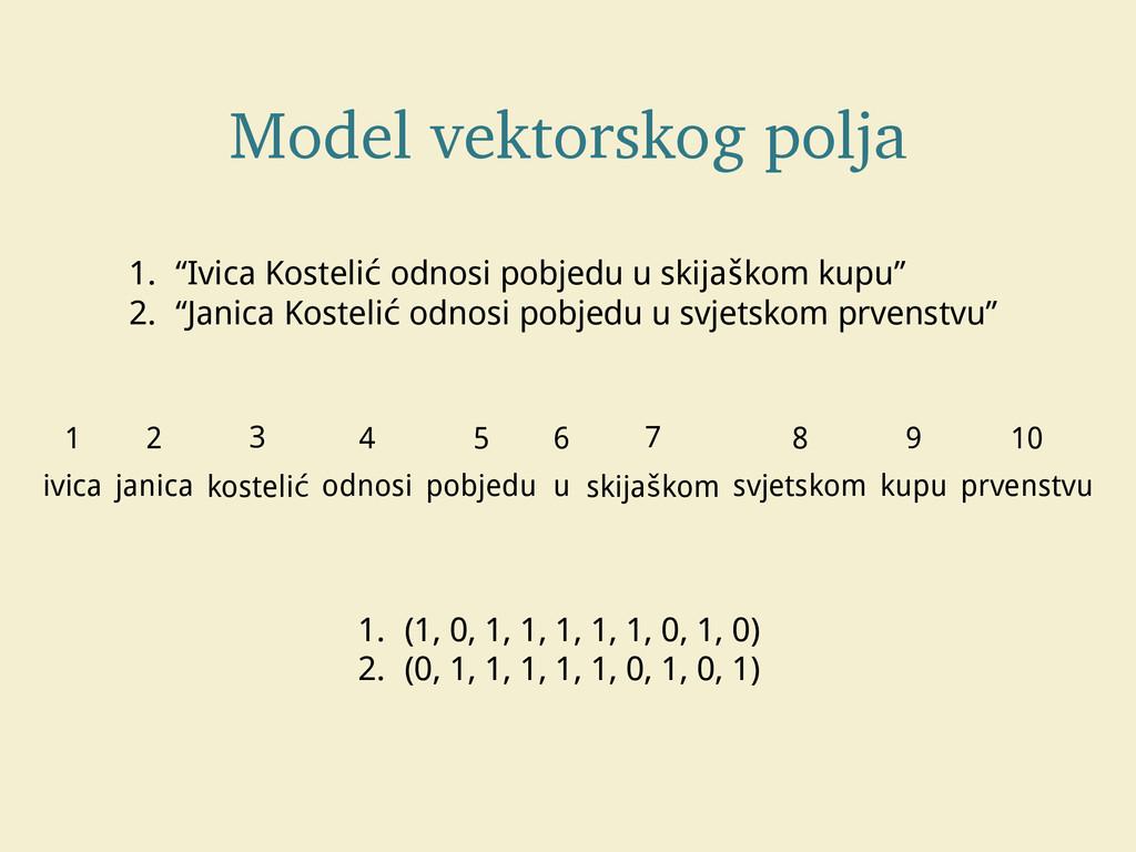 """Model vektorskog polja 1. """"Ivica Kostelić odnos..."""