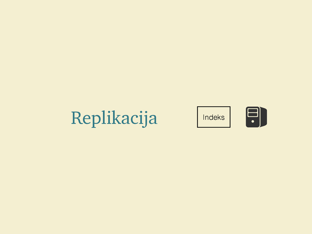 Replikacija Indeks Indeks Indeks