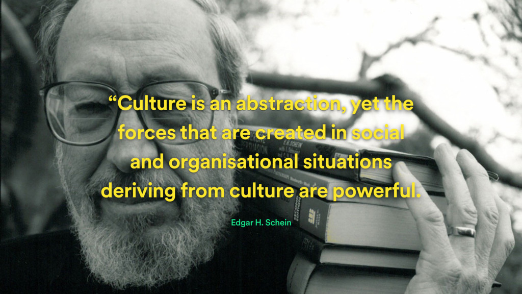 """Culture is an abstraction, yet the forces that..."