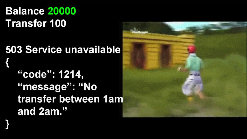 "503 Service unavailable { ""code"": 1214, ""messag..."