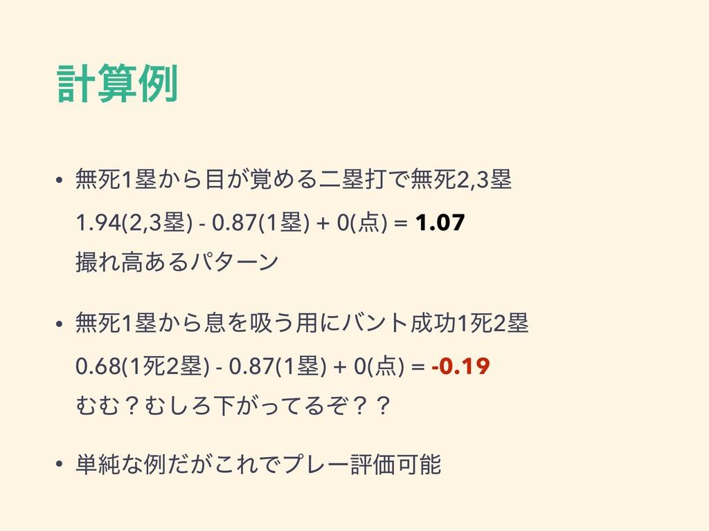 ܭྫ • ແࢮ1ྥ͔Β͕֮ΊΔೋྥଧͰແࢮ2,3ྥ 1.94(2,3ྥ) - 0.87(...