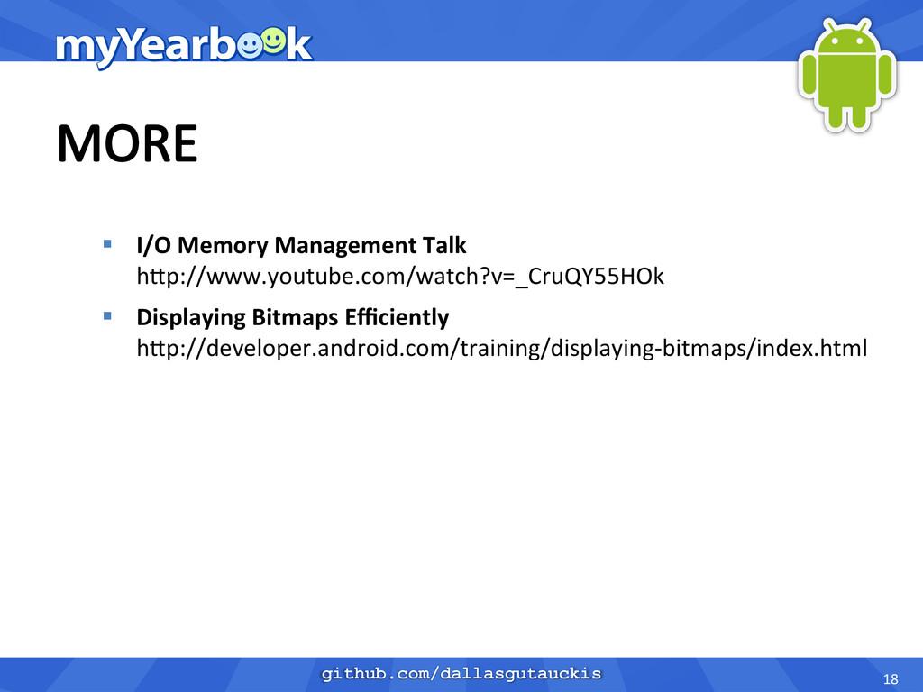 github.com/dallasgutauckis § I/O Memory ...