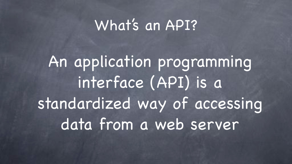 What's an API? An application programming inter...