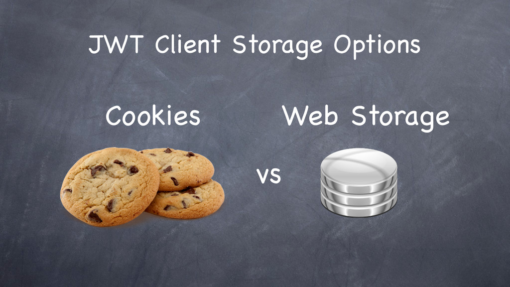 JWT Client Storage Options vs Cookies Web Stora...