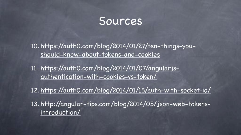 Sources 10. https:/ /auth0.com/blog/2014/01/27/...