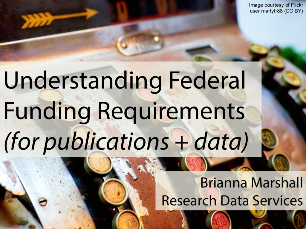 Understanding Federal Funding Requirements (for...