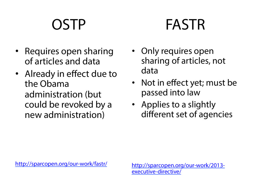 OSTP •  Requires open sharing of articles and d...