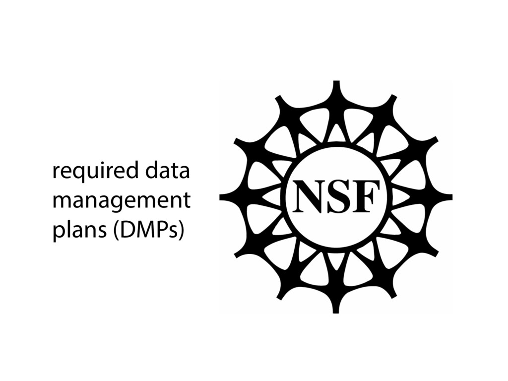 required data management plans (DMPs)