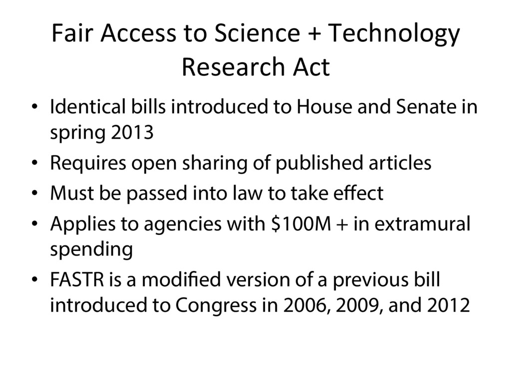 Fair Access to Science + Technology Research Ac...