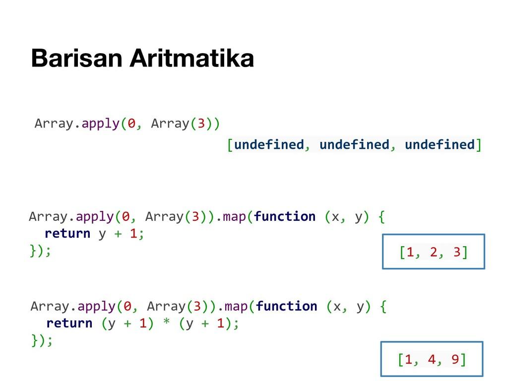 Barisan Aritmatika Array.apply(0, Array(3)).map...