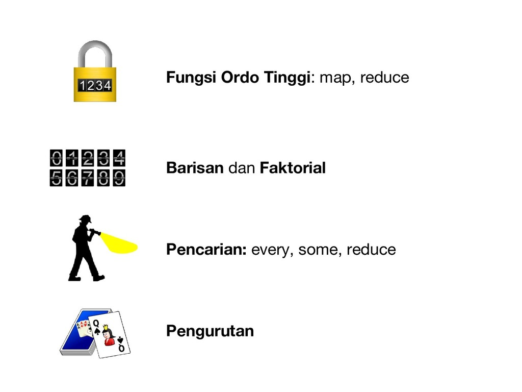 Fungsi Ordo Tinggi: map, reduce Barisan dan Fak...