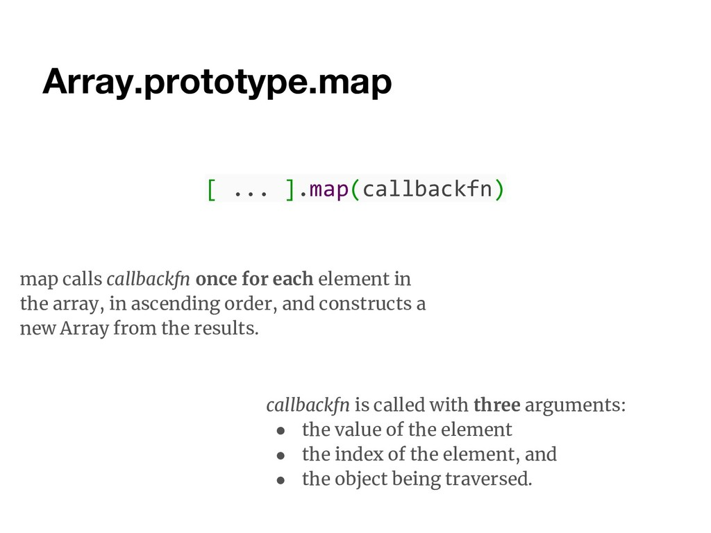 Array.prototype.map map calls callbackfn once f...