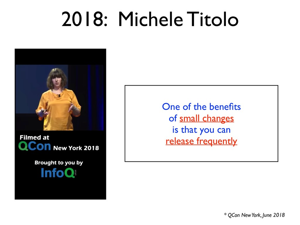 2018: Michele Titolo One of the benefits of smal...
