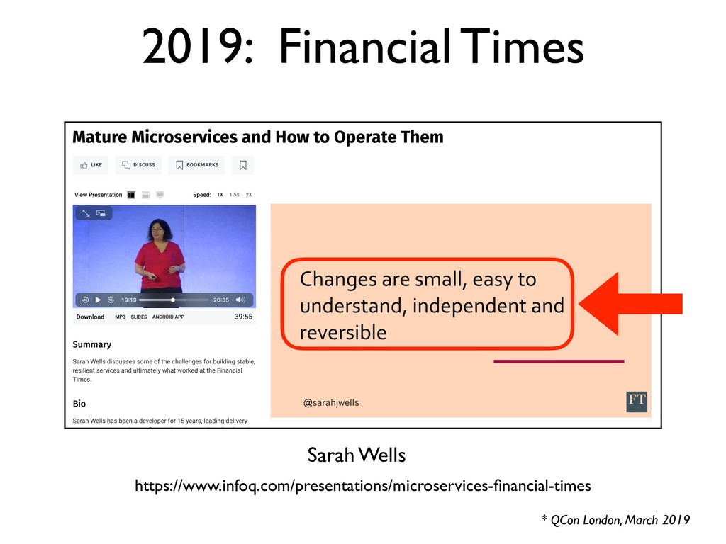2019: Financial Times * QCon London, March 2019...