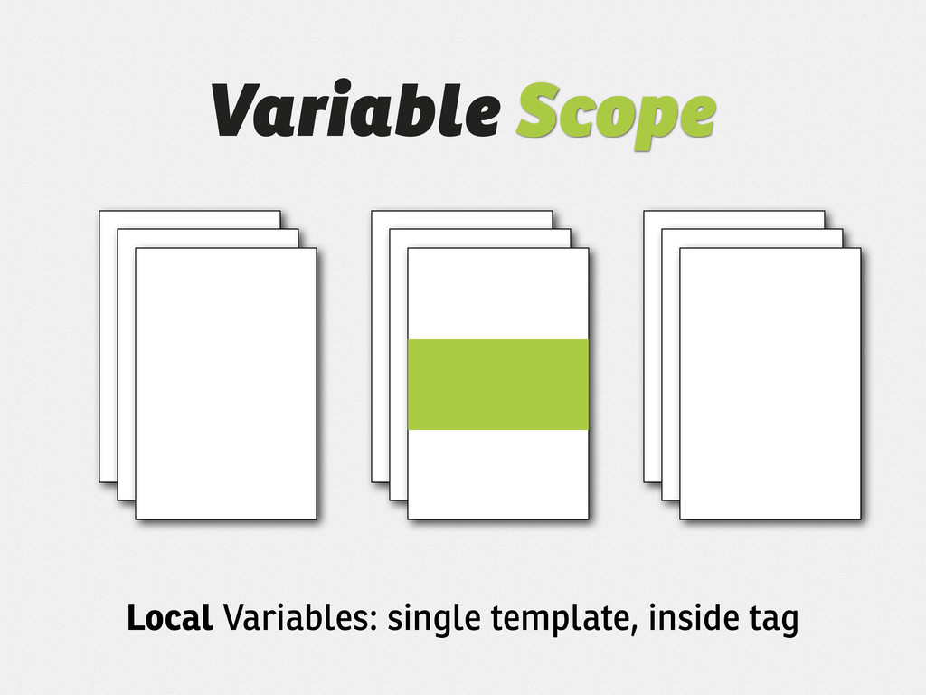 Variable Scope Local Variables: single template...