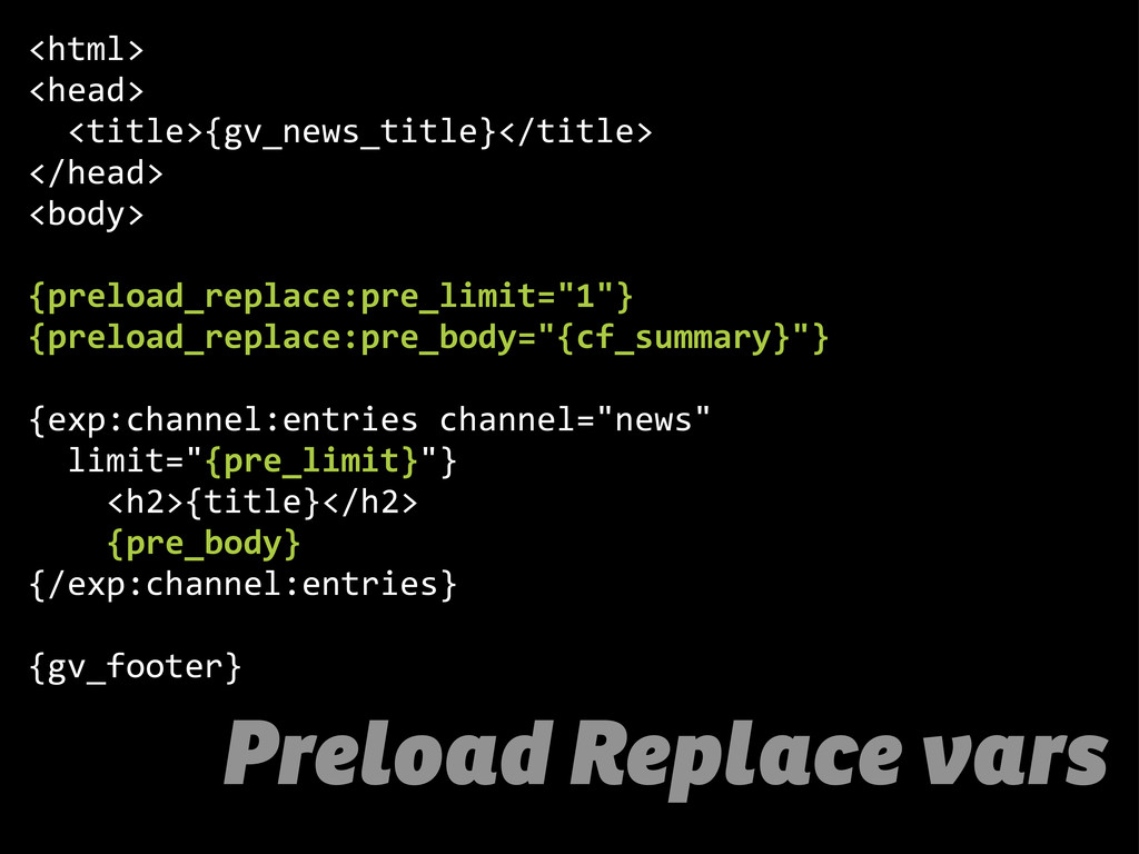 Preload Replace vars <html> <head>     <title>{...