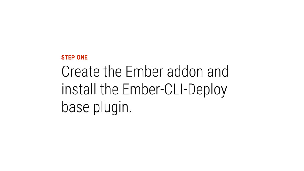 Create the Ember addon and install the Ember-CL...