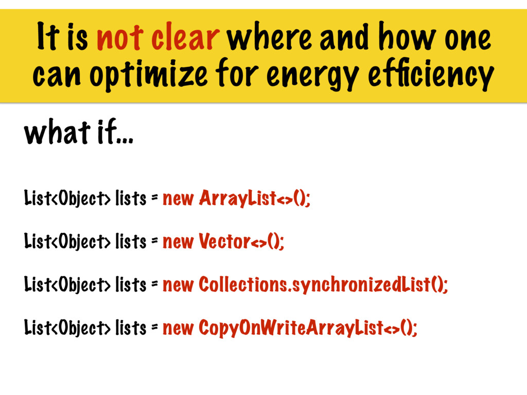 It is not clear where and how one can optimize ...