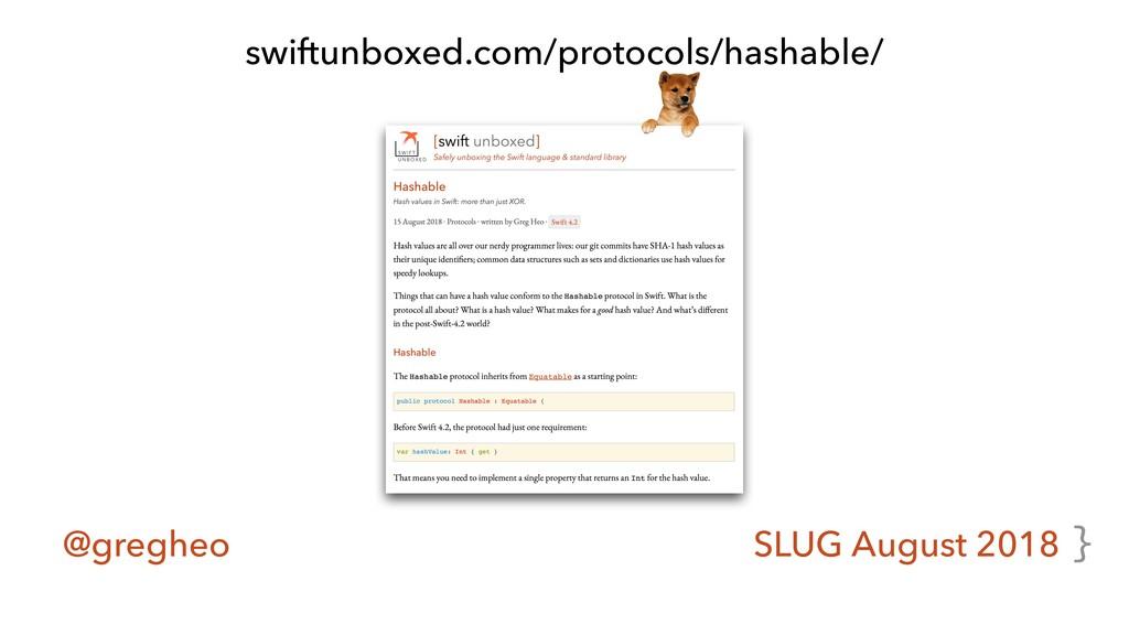 @gregheo SLUG August 2018 swiftunboxed.com/prot...