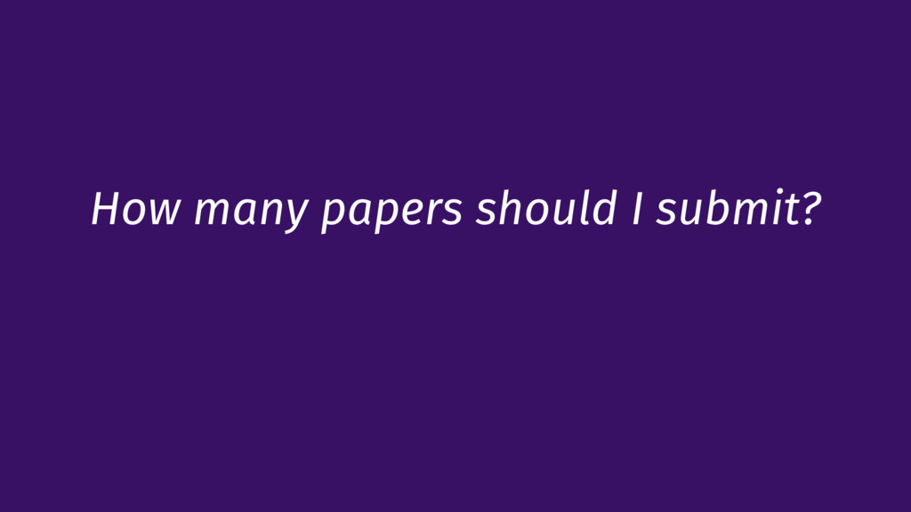 How many papers should I submit?