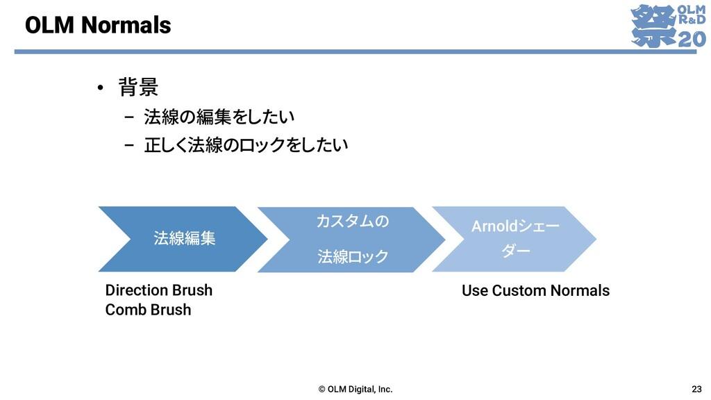OLM Normals 法線編集 Direction Brush Comb Brush カスタ...