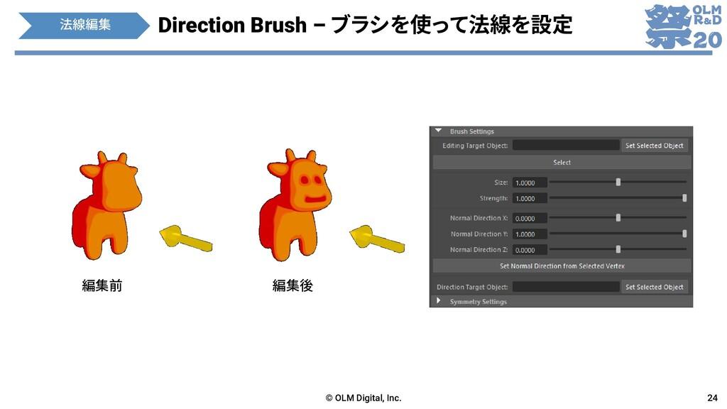 Direction Brush – ブラシを使って法線を設定 © OLM Digital, I...