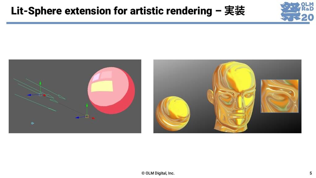 Lit-Sphere extension for artistic rendering – 実...