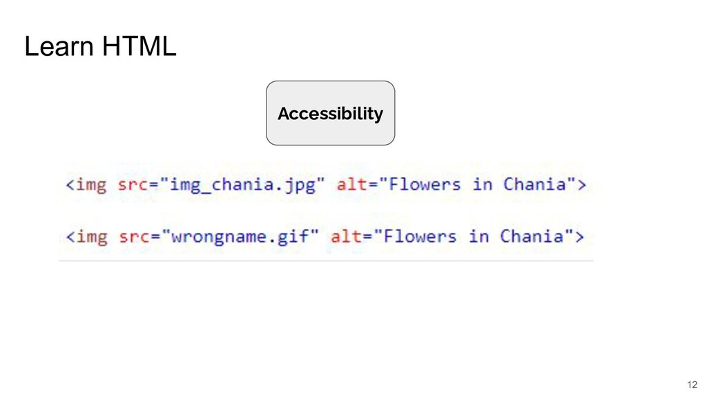 Learn HTML 12 Accessibility