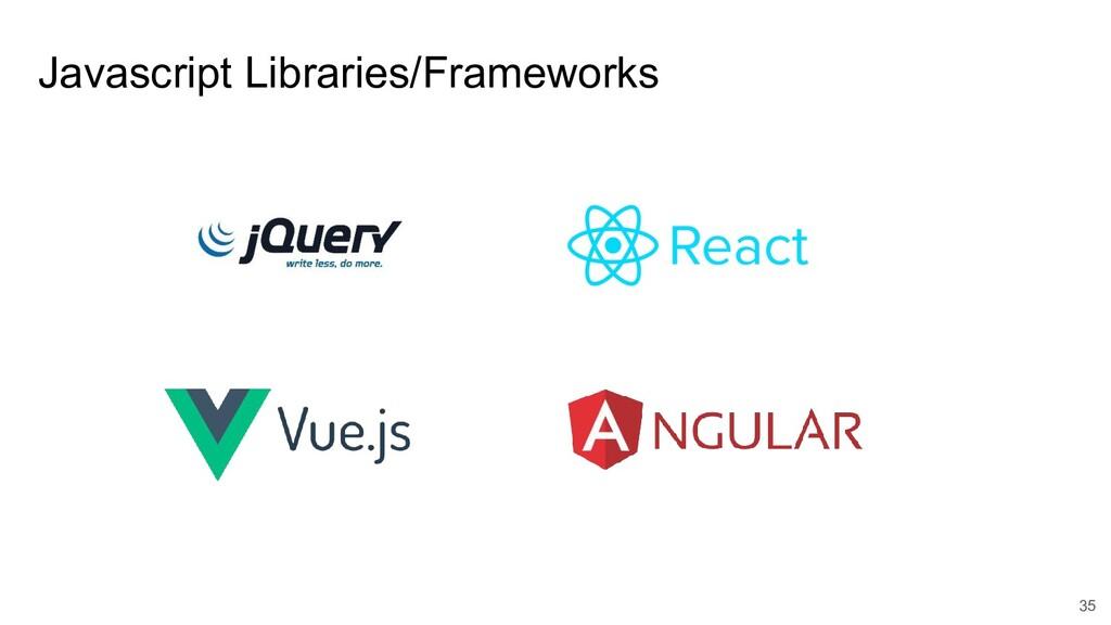 Javascript Libraries/Frameworks 35