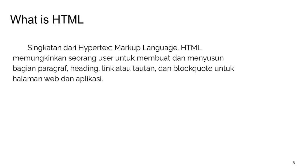 What is HTML 8 Singkatan dari Hypertext Markup ...