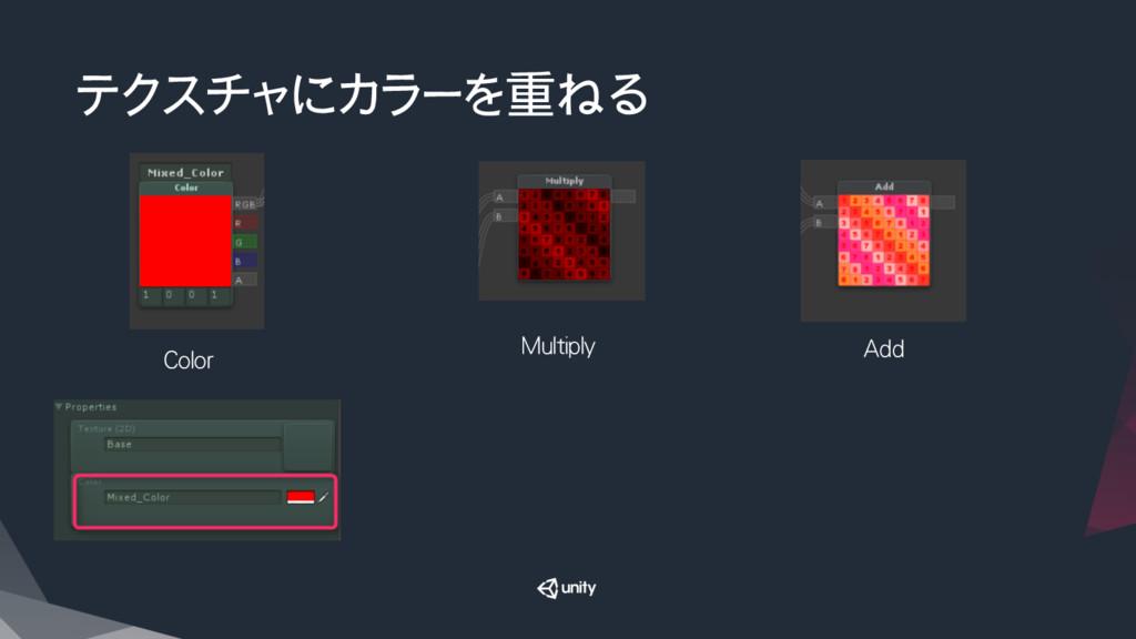 テクスチャにカラーを重ねる Color Multiply Add