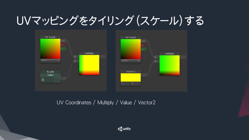 UVマッピングをタイリング(スケール)する UV Coordinates / Multipl...