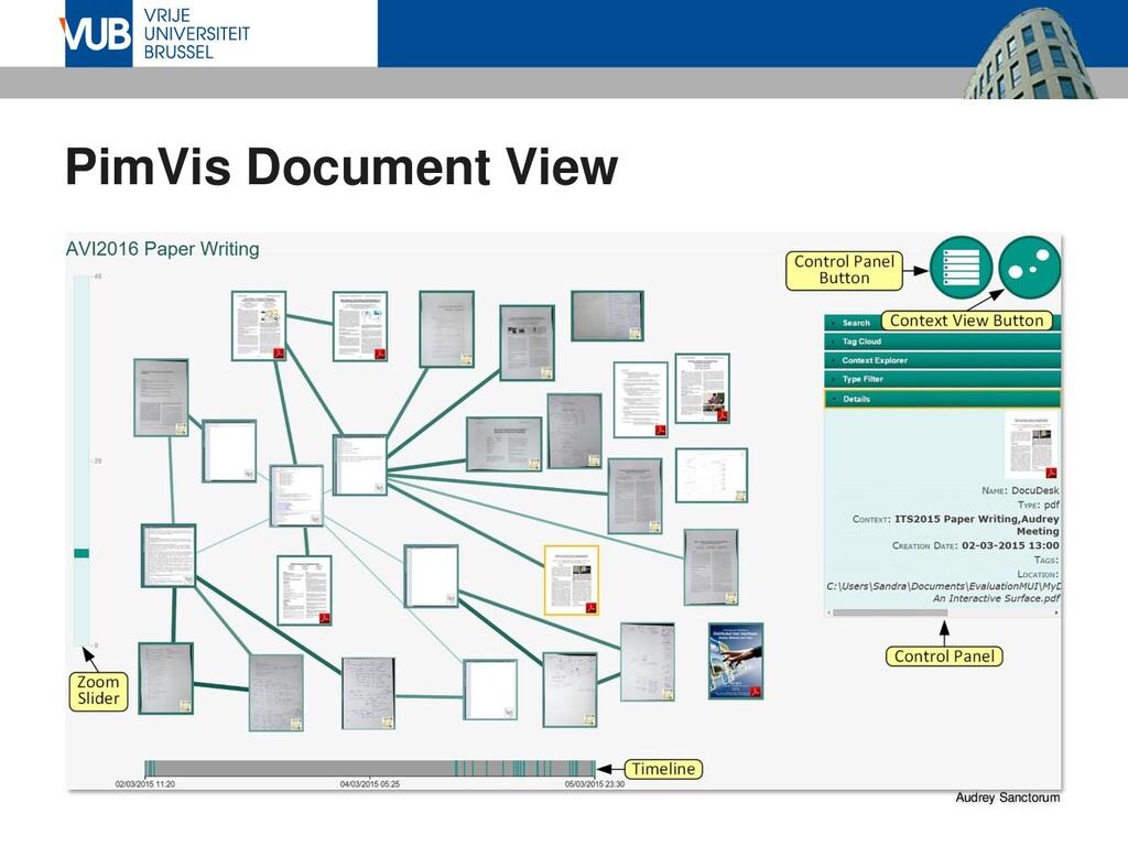 PimVis Document View Audrey Sanctorum