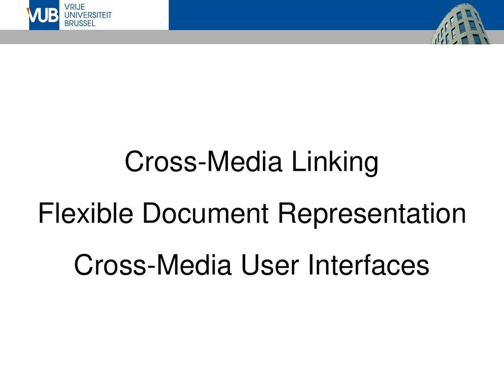 Cross-Media Linking Flexible Document Represent...