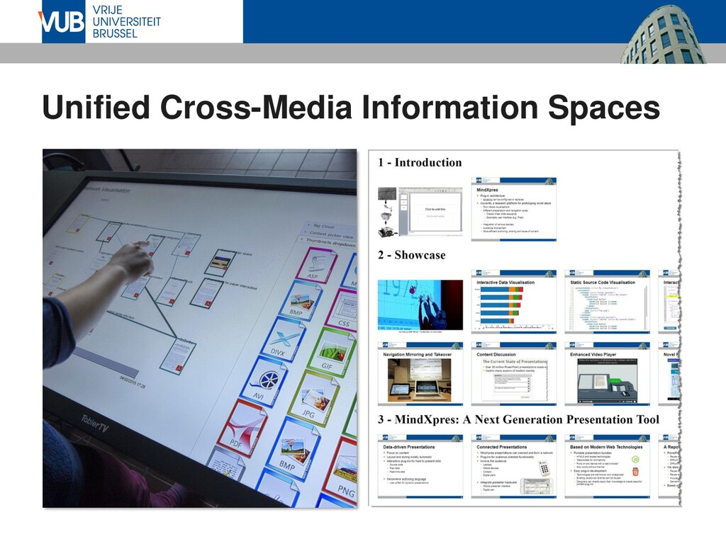 Unified Cross-Media Information Spaces