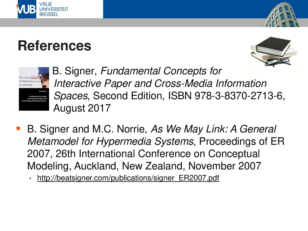 References  B. Signer, Fundamental Concepts fo...