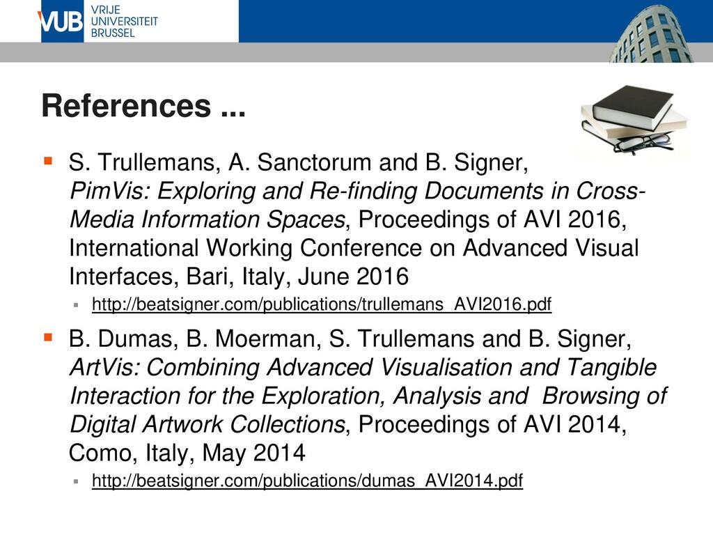 References ...  S. Trullemans, A. Sanctorum an...