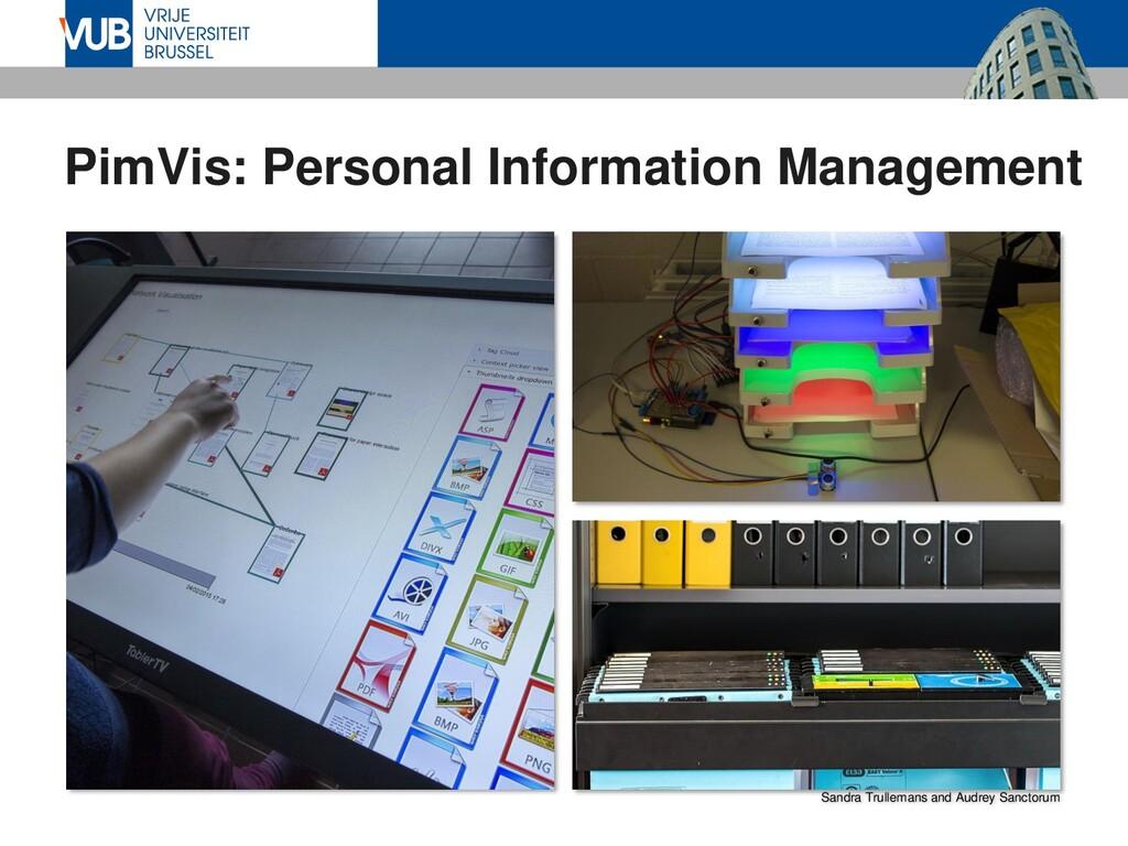 PimVis: Personal Information Management Sandra ...