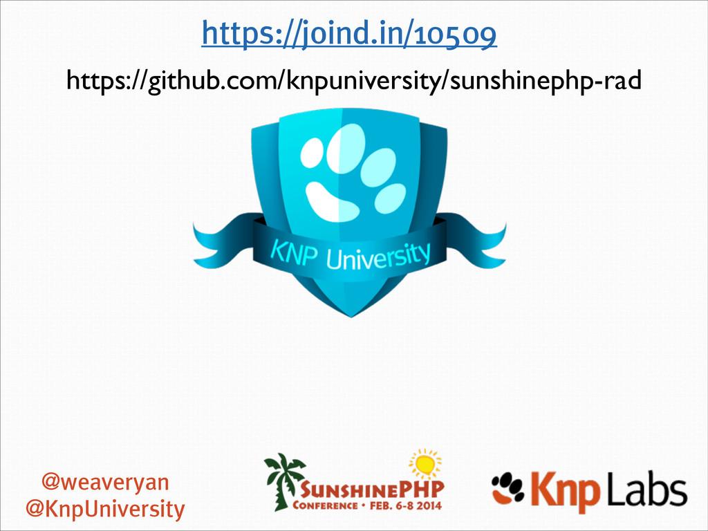 @weaveryan @KnpUniversity https://joind.in/1050...
