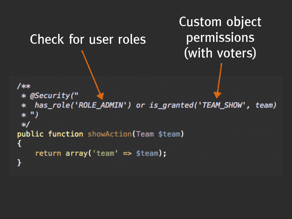 Check for user roles Custom object permissions ...