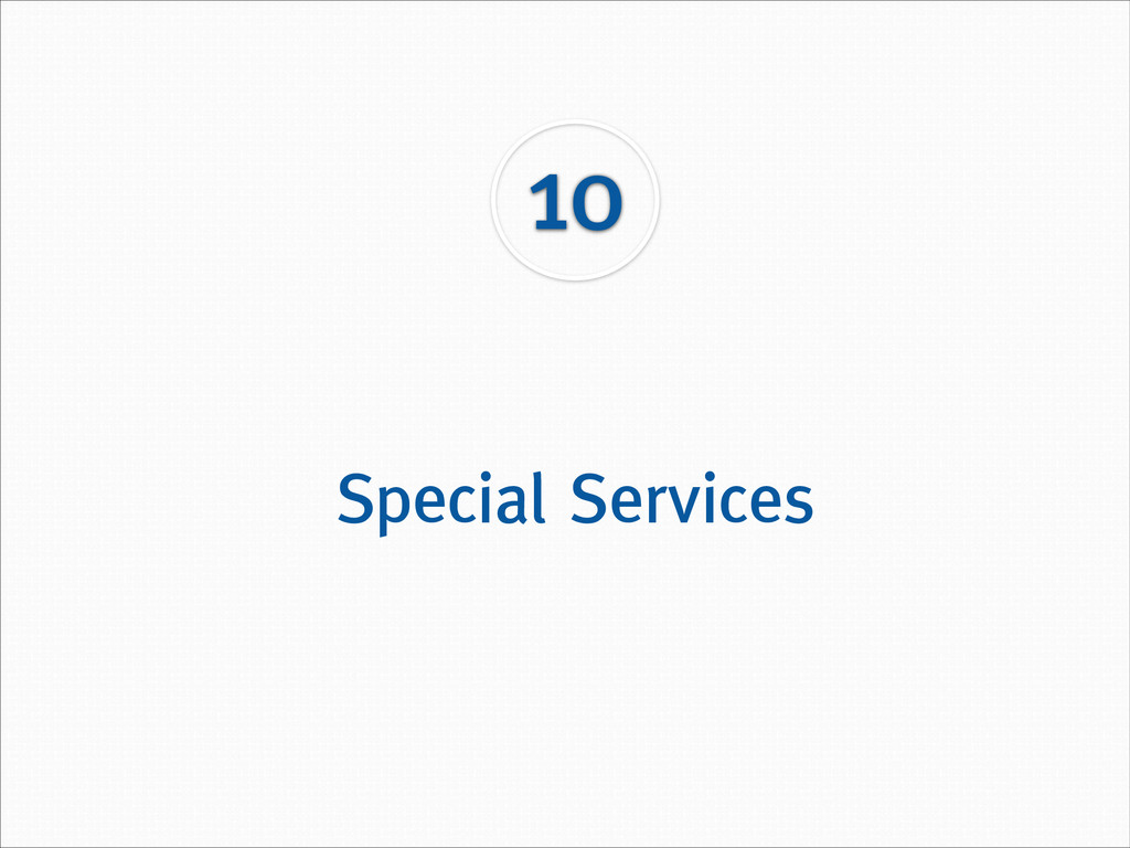 Special Services 10