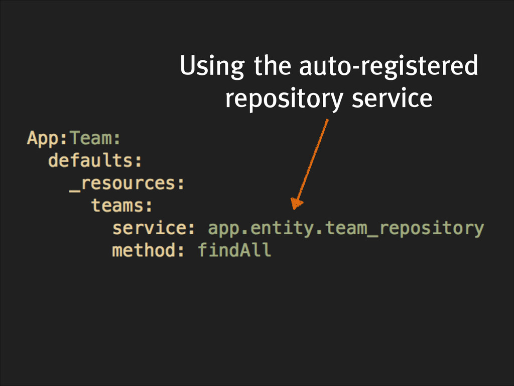 Using the auto-registered repository service