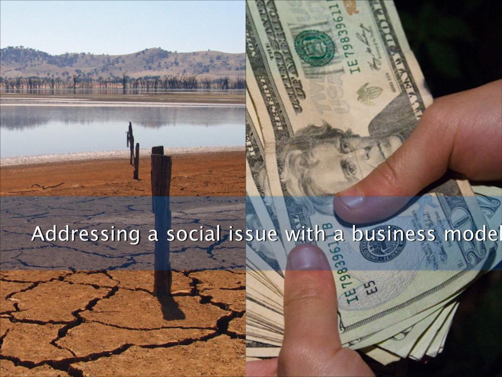 Ϗδωε Addressing a social issue with a business ...