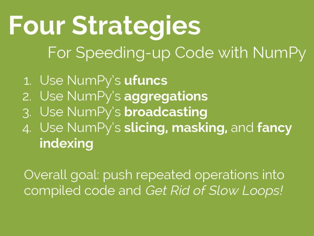 Four Strategies For Speeding-up Code with NumPy...