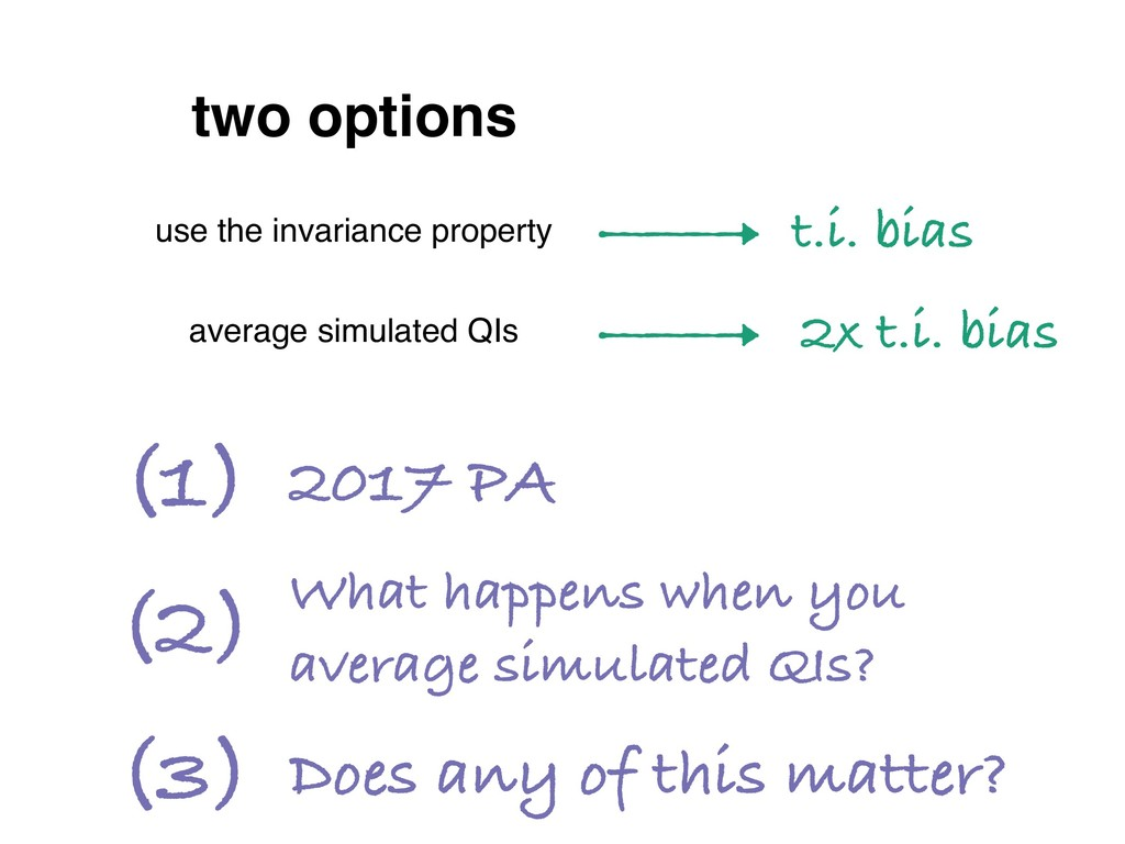 two options use the invariance property average...