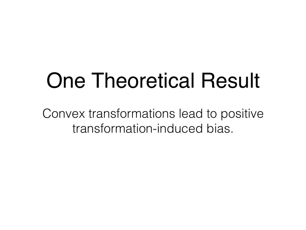 One Theoretical Result Convex transformations l...