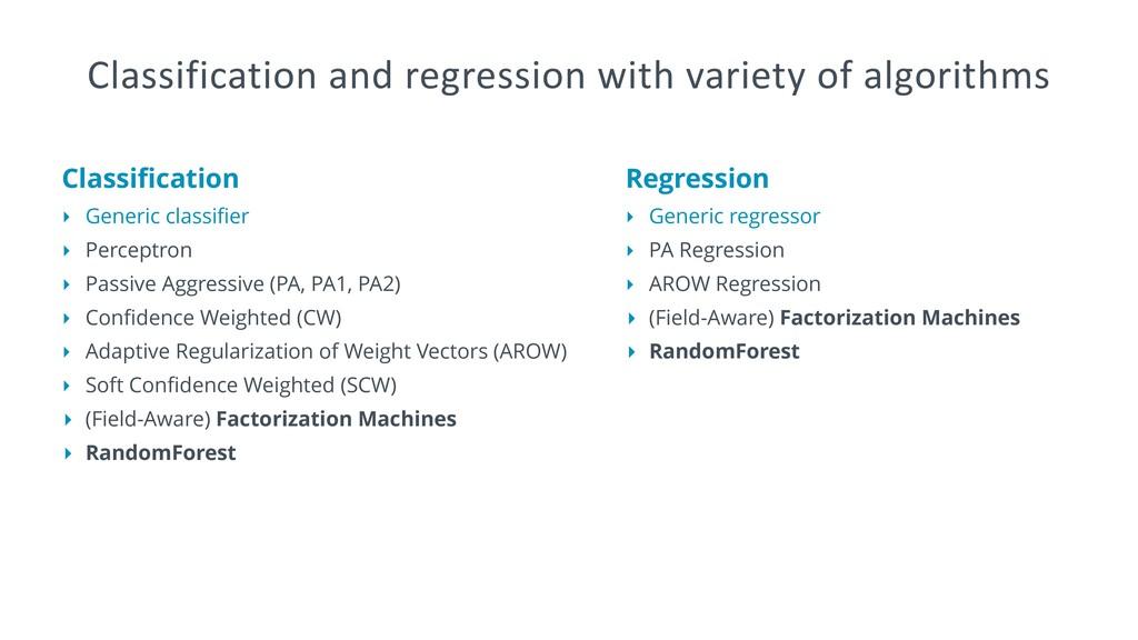 Classification ‣ Generic classifier ‣ Perceptron ...