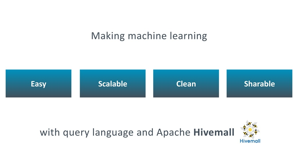 with query language and Apache Hivemall Easy Sc...